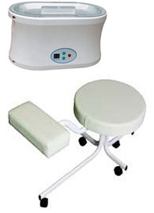 Parafin Wax Heater and Pedicure Stool